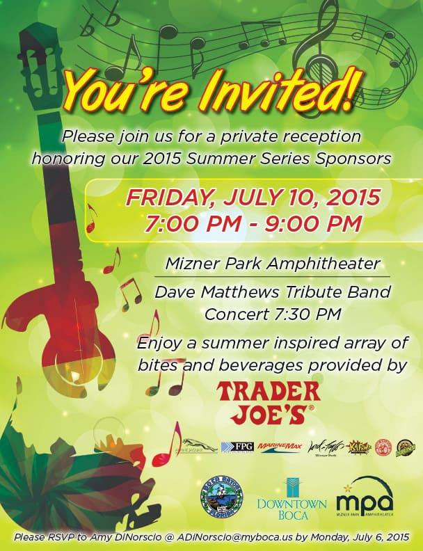 Dave Matthews Tribute Band Concert Flyer