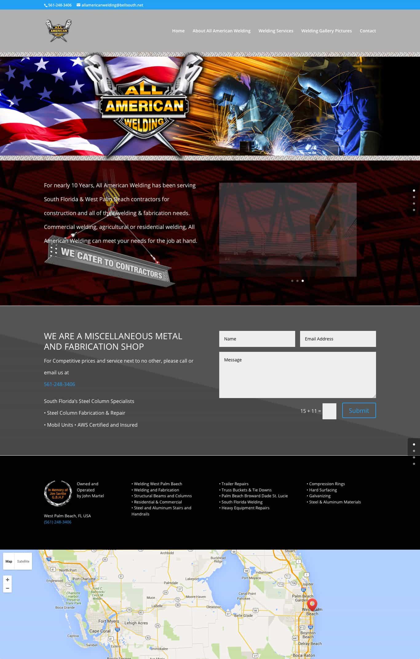 allamericanwelding.com home page