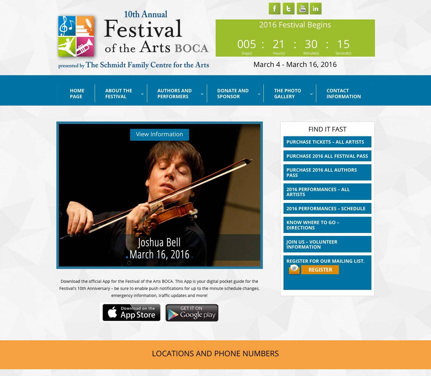 Festival of the Arts BOCA home page