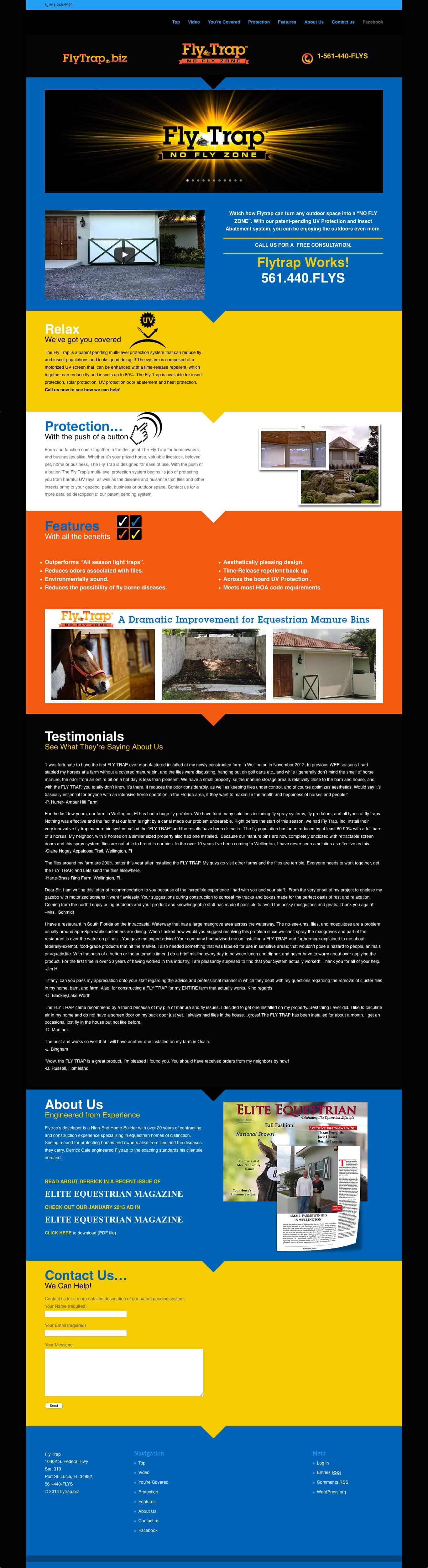 flytrap.biz home page