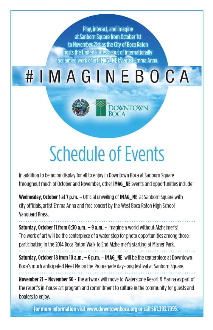Imagine Boca Poster