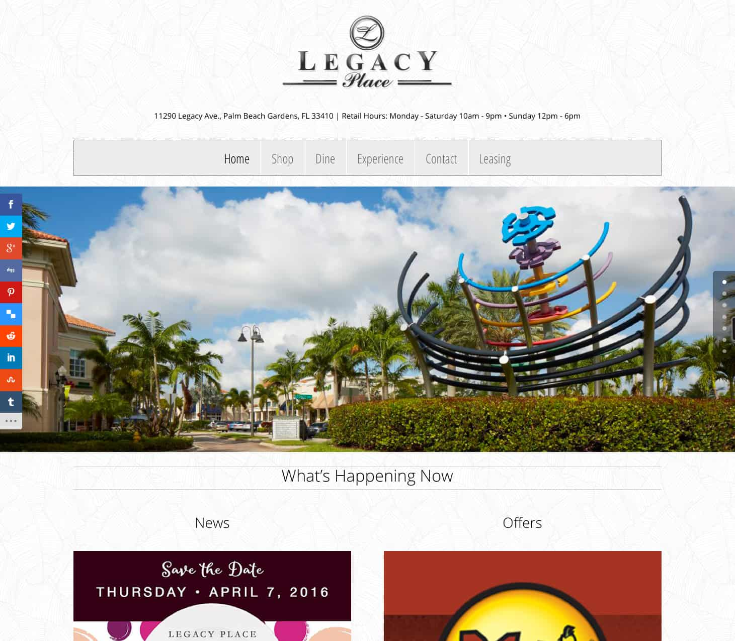 shoplegacyplace.com home page