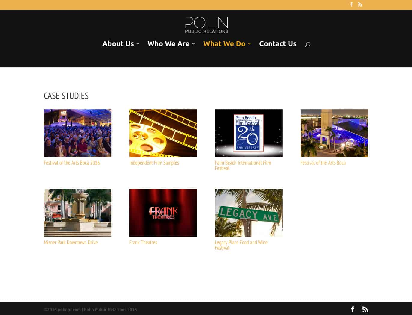 Polin PR Case Studies page