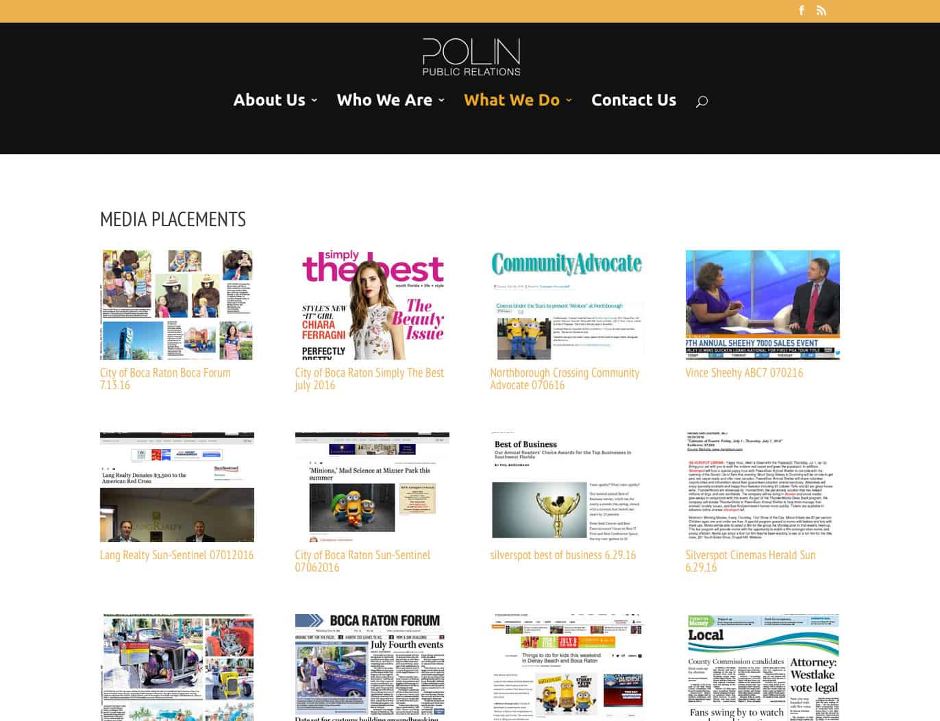 Polin PR Media Placements Page
