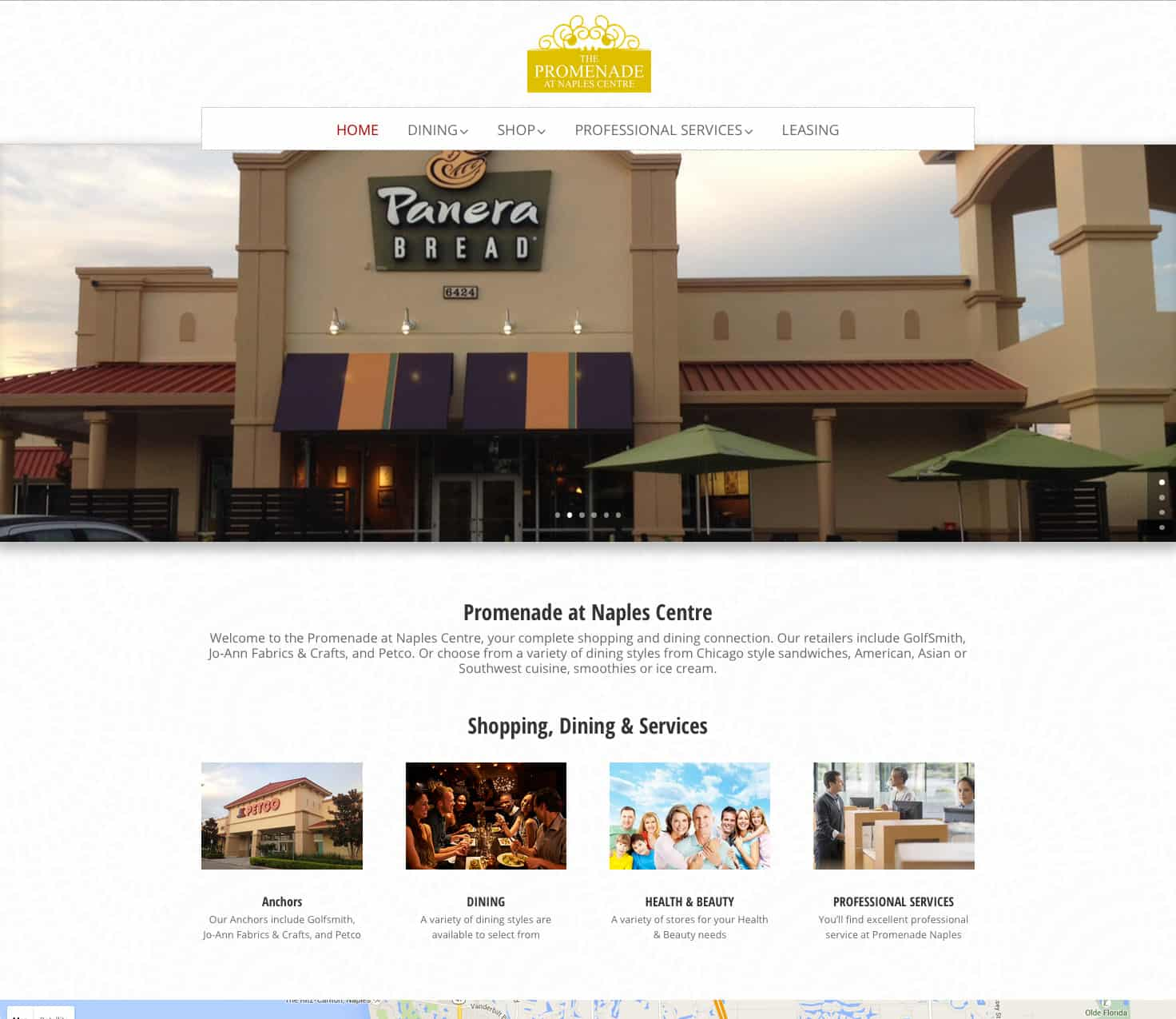 promenadeatnaplescentre.com home page