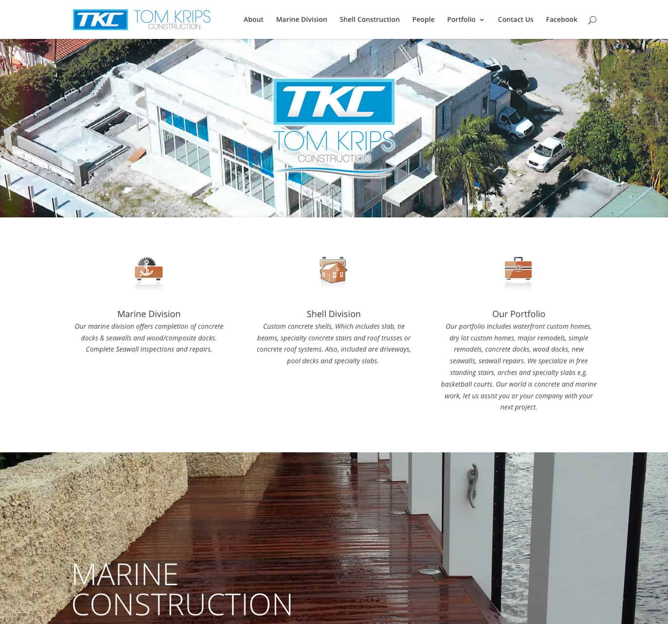 tomkripsconst.com home page